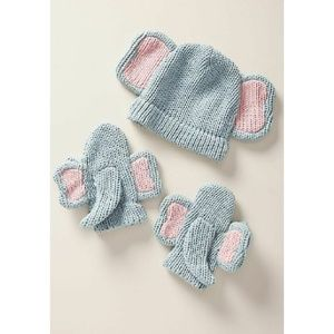 Anthropologie Wild Ones Hat and Mittens Set - NWT